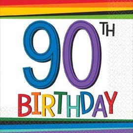Rainbow Birthday Beverage Napkins 90 16ct.