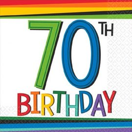 Rainbow Birthday Beverage Napkins 70 16ct.