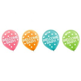 Baby Shower Printed Latex Balloons 15ct
