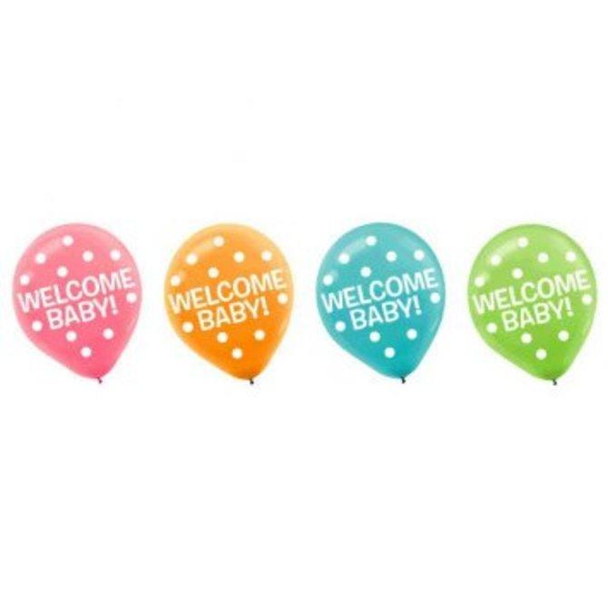 Baby Shower Printed Latex Balloons 15ct