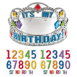 Rainbow Birthday Add-Any-Age Tiara