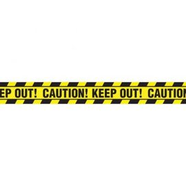 Halloween Value Plastic Caution Tape, 20'