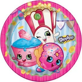 """Shopkins 7"""" Round Dessert Plate- 8ct - Clearance"""
