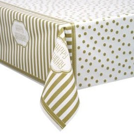 "Golden Birthday Table Cover 54""x84"""