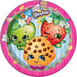 """Shopkins 9"""" Round Plate -8ct - Clearance"""