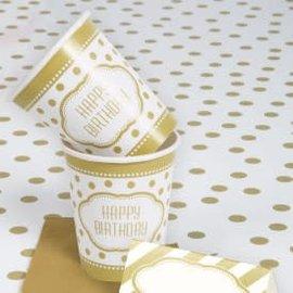 Golden Birthday 9oz Cup 8Ct