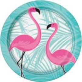 "Flamingo Round 9"" Plate 8Ct"