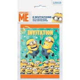 Despicable Me Invitations, 8ct- Clearance