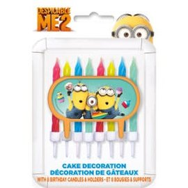 Despicable Me Cak Dc with 8 Bday Cd