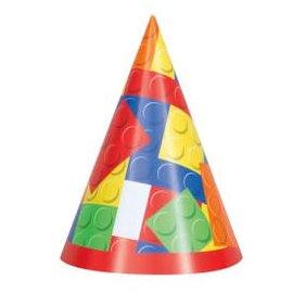 Building Blocks Party Hat 8Ct