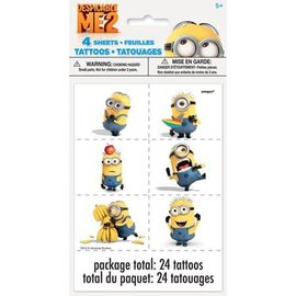 Despicable Me Tattoos, 24ct- Clearance