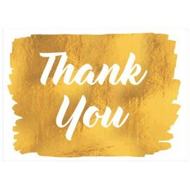 Golden Thank You Cards, Value Pack 20ct