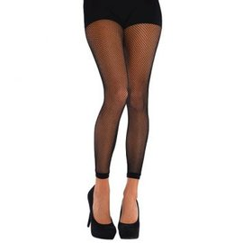 Black Fishnet Footless Tights - Adult Standard