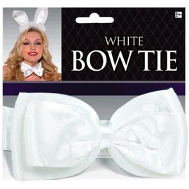 White Deluxe Bowtie - Adult