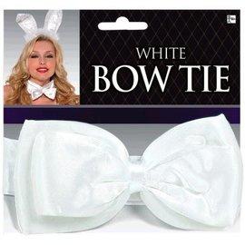 White Deluxe Bowtie - Adult