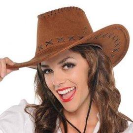 Faux Suede Cowboy Hat