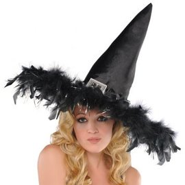 Fashion Feathered Witch Hat
