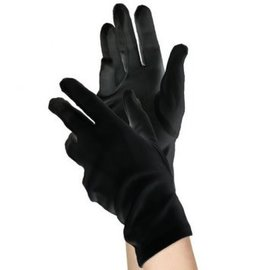 Short Black Gloves- Womens