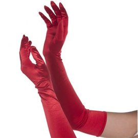 Long Red Gloves- Womens