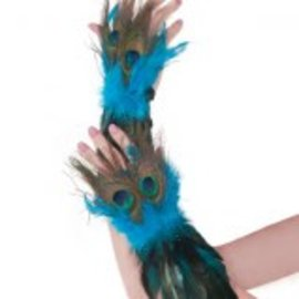 Peacock Feather Gloves