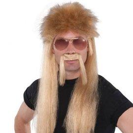 Blonde 18 Wheeler Wig Kit