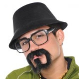 Rap Star Moustache/Goatee ‑ Adult