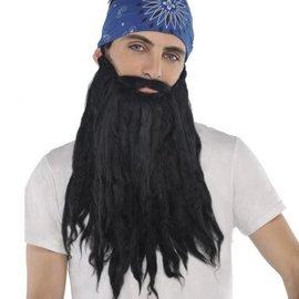 Black Plush Beard/Moustache