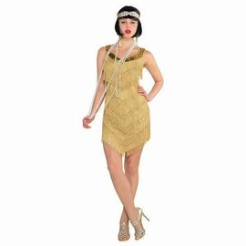 Champagne Flapper Dress ‑ Adult Standard (#130)