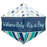 Welcome Baby Boy Anglez Balloon, 21""