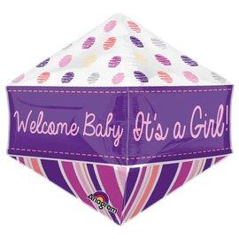 """Welcome Baby Girl Anglez Balloon, 21"""""""