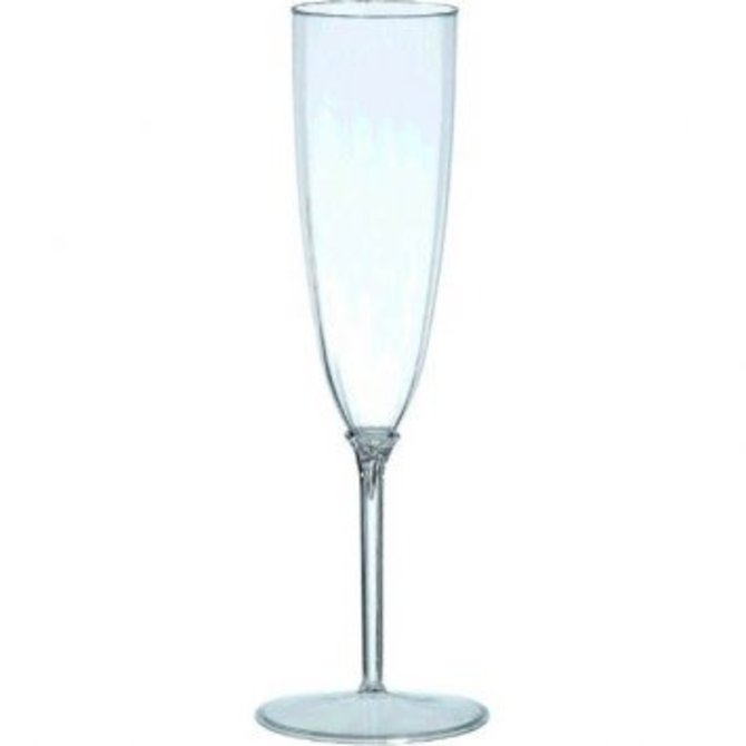 8 ct Clear Plastic Premium Quality Boxed 5 oz. Champagne Flutes