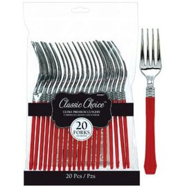 Classic Choice Premium Forks ‑ Red