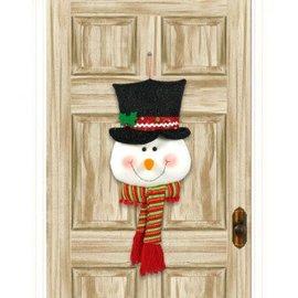 Snowman Head Plush Door Hanger