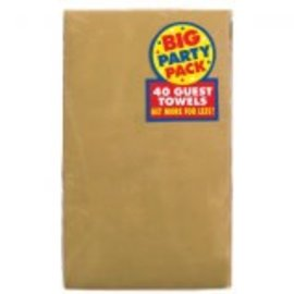 Gold Big Party Pack 2-Ply Guest Towels, 40ct