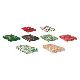 Christmas Gift Boxes - Printed Paper 8ct