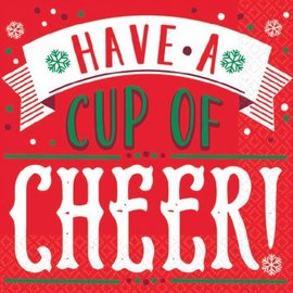 Holiday Cheers Beverage Napkins-16ct