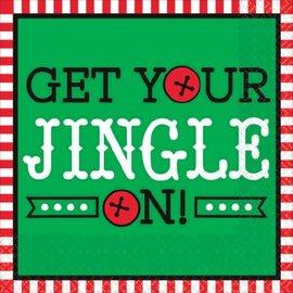 Get Your Jingle On Beverage Napkins, 16ct