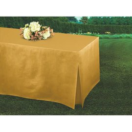 Tablefitters™ Flannel-Backed Table Covers Gold