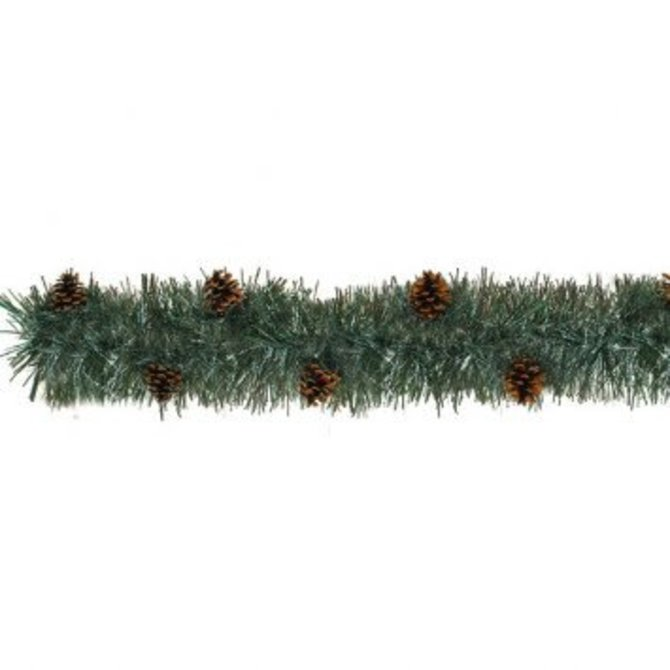 Artificial Pine Boa Garland with Real Pine Cones-9'