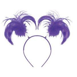 Purple Ponytail Headband