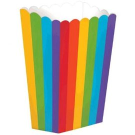 Small Popcorn Boxes - Rainbow 5ct.
