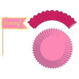Pink Cupcake Kit, 24ct