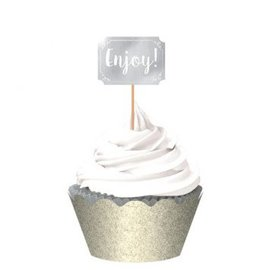 Silver Cupcake Kit, 24ct
