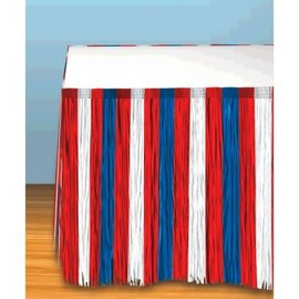 Patriotic Fringe Tableskirt