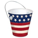 Americana Metal Bucket - Stars