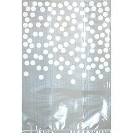 White Cello Bag w/Dots, 25ct