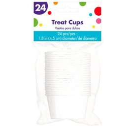 White Pleated Nut Cups 24ct
