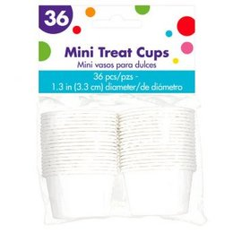 Mini White Pleated Nut Cups 36ct