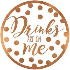 Drinks Are On Me Coasters, 18ct