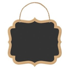 Scroll Chalkboard Wood Signs 2ct